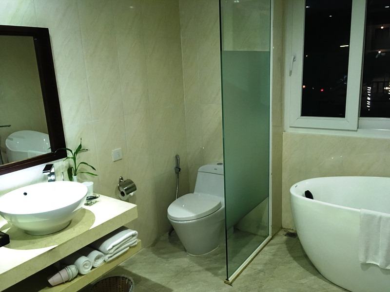 2 Wochen Vietnam Hoi An Hotelbad