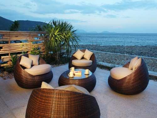 Ihre Terasse mit Blick auf den Nha Trang Strand
