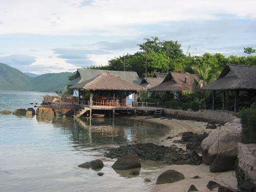 Strandurlaub Vietnam - Restaurant auf der Palmeninsel