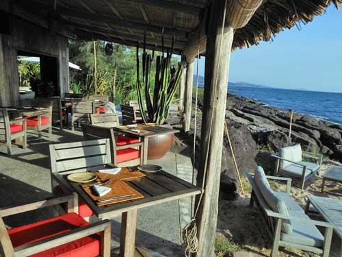 Vom Restaurant direkt an den Strand