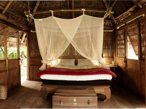 Die einfachen und rustikalen Zimmer Ihrer Lodge in Pu Luong