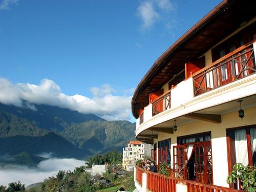 Sapa Hotel mit Aussicht