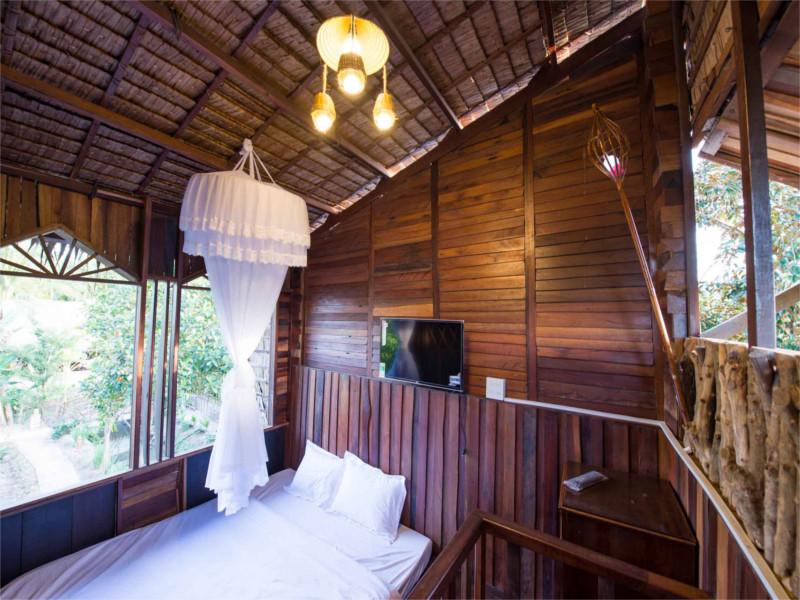 Ein Zimmer in einer Mekong Lodge
