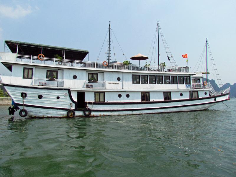 Vietnam Rundreise Bai Tu Long Boot