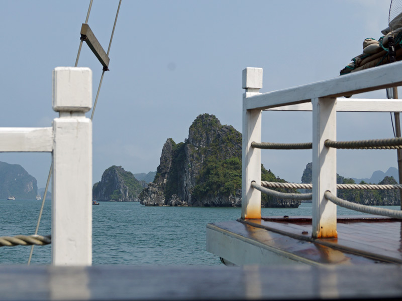 Vietnam Bai Tu Long Bucht Dschunke